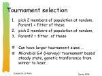tournament selection