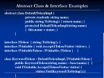 abstract class interface examples