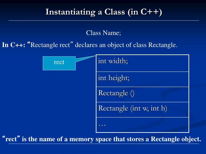 Class Name;