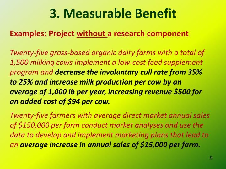 3. Measurable Benefit