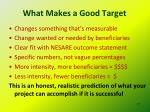 what makes a good target