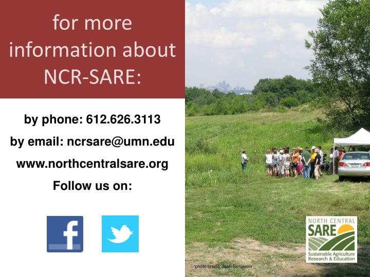 for more information about NCR-SARE: