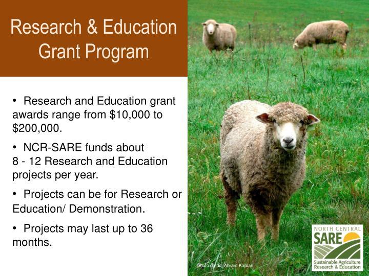 Research & Education Grant Program