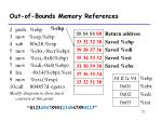 out of bounds memory references12