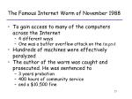 the famous internet worm of november 1988