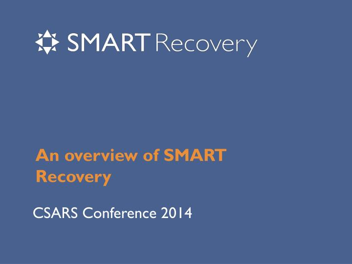 an overview of smart recovery n.