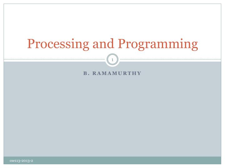 processing and programming n.