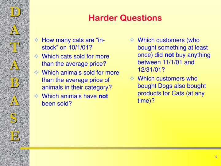 """How many cats are """"in-stock"""" on 10/1/01?"""