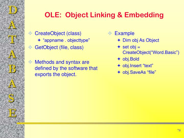 CreateObject (class)