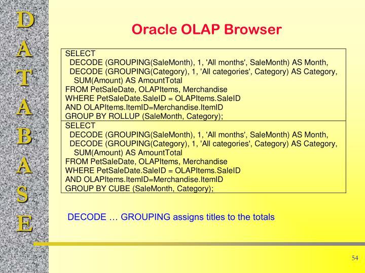 Oracle OLAP Browser