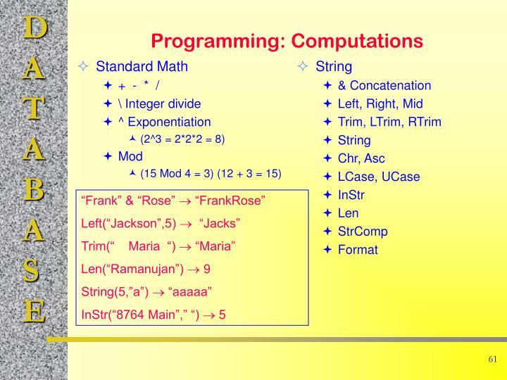 Standard Math