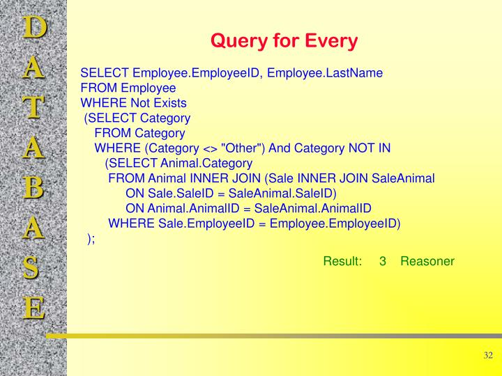 Query for Every