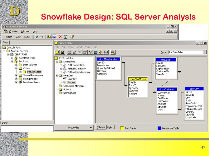 Snowflake Design: SQL Server Analysis