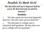 parallels to mark 16 16