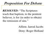 proposition for debate