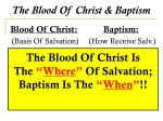 the blood of christ baptism