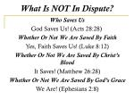 what is not in dispute