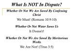 what is not in dispute1