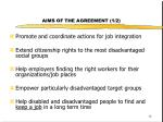 aims of the agreement 1 2
