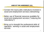 aims of the agreement 2 2
