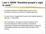 law n 68 99 disabled people s right to work