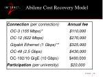 abilene cost recovery model