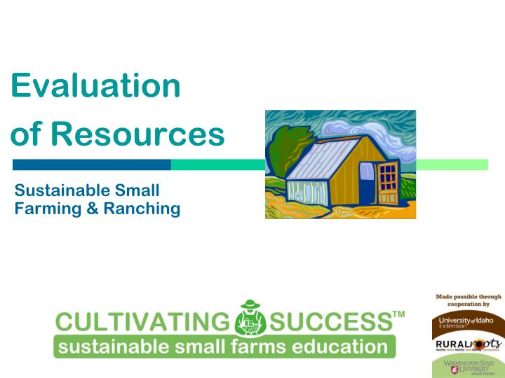 sustainable small farming ranching n.