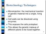 biotechnology techniques2