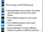 flowering and pollination12