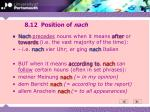 8 12 position of nach