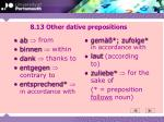 8 13 other dative prepositions