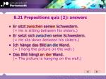 8 21 prepositions quiz 2 answers