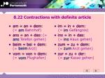 8 22 contractions with definite article
