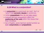 8 28 what is a conjunction