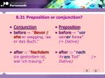 8 31 preposition or conjunction
