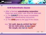 8 40 subordinate clauses