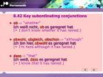 8 42 key subordinating conjunctions