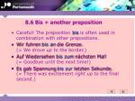 8 6 bis another preposition