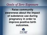 goals of zero exposure