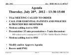 agenda thursday july 20 th 2012 13 30 15 00
