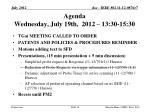 agenda wednesday july 19th 2012 13 30 15 30