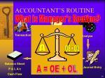 accountant s routine1
