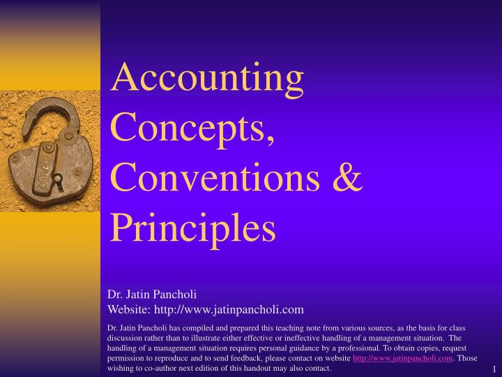 accounting concepts conventions principles n.