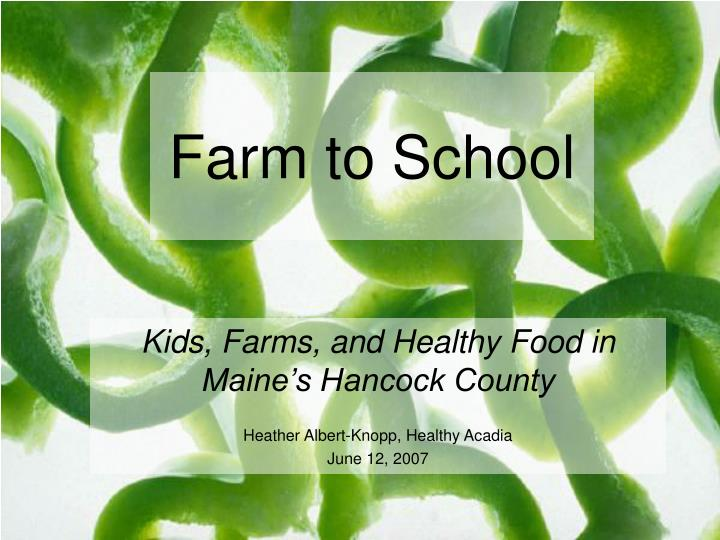 farm to school n.