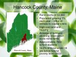 hancock county maine