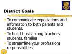 district goals