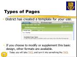 types of pages