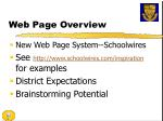 web page overview