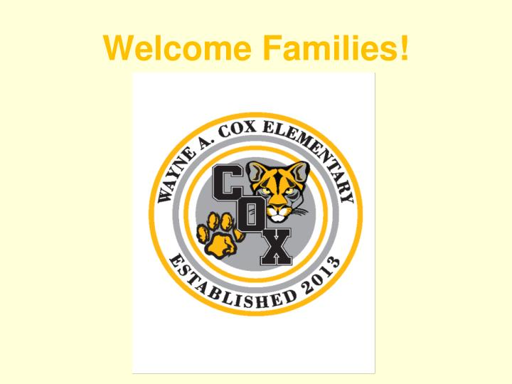 welcome families n.