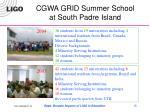 cgwa grid summer school at south padre island